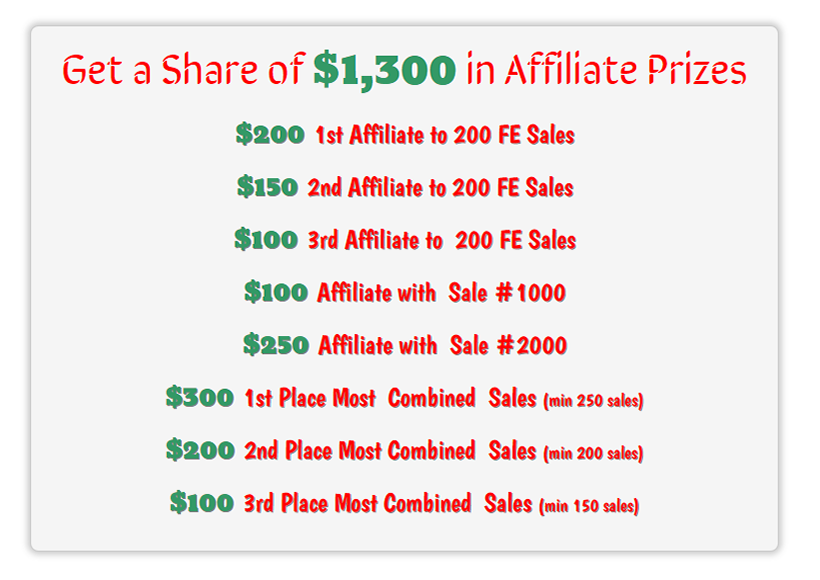 Jvzoo affiliate contest prizes